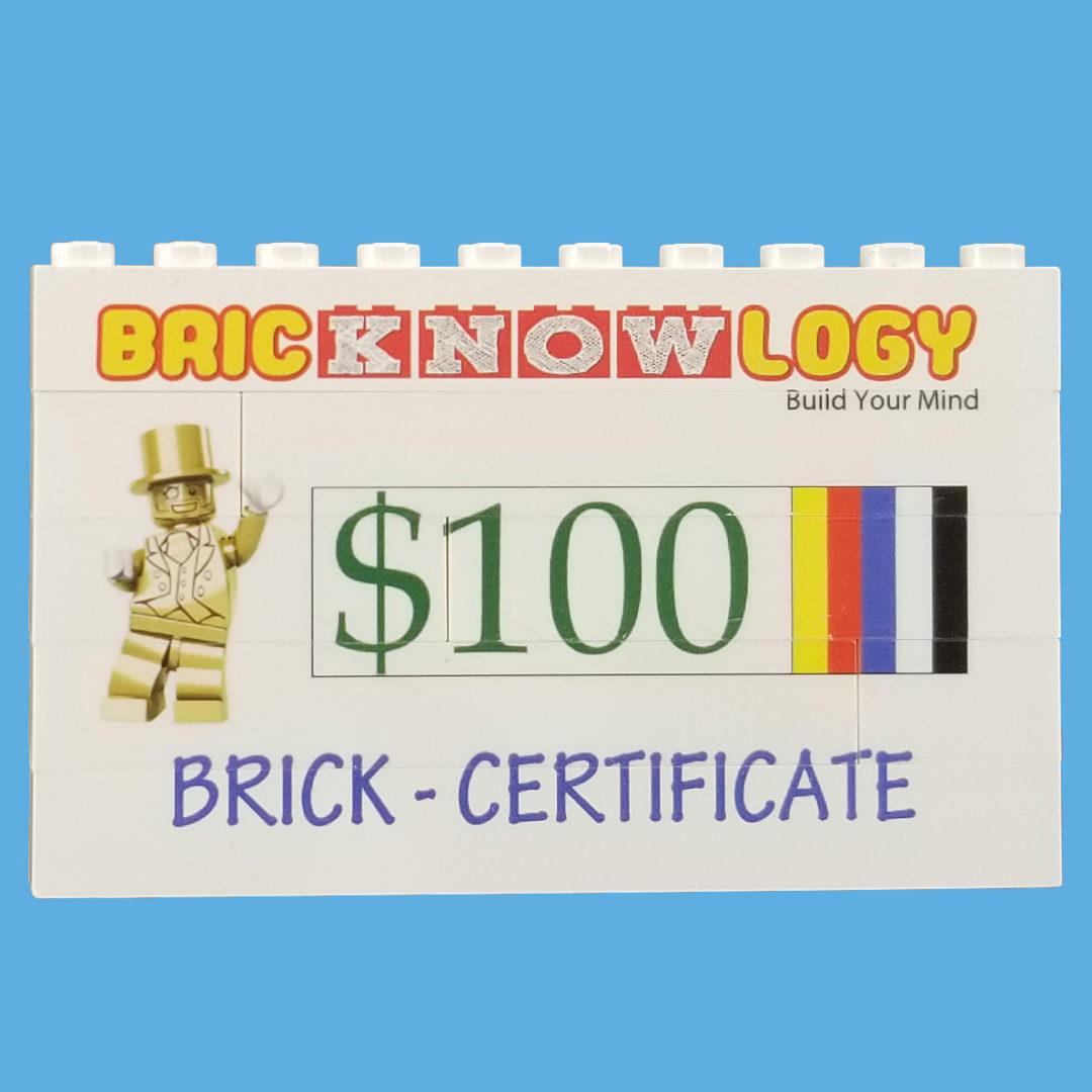 Brick Certificates 100