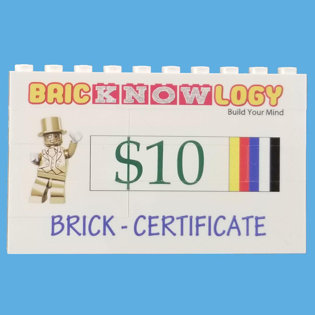 Brick Certificates 10