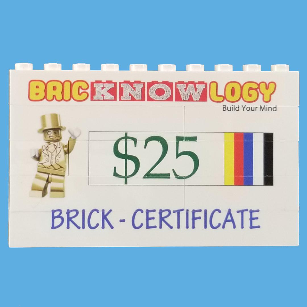Brick Certificates 25