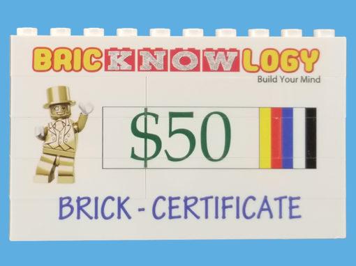 Brick Certificates 50